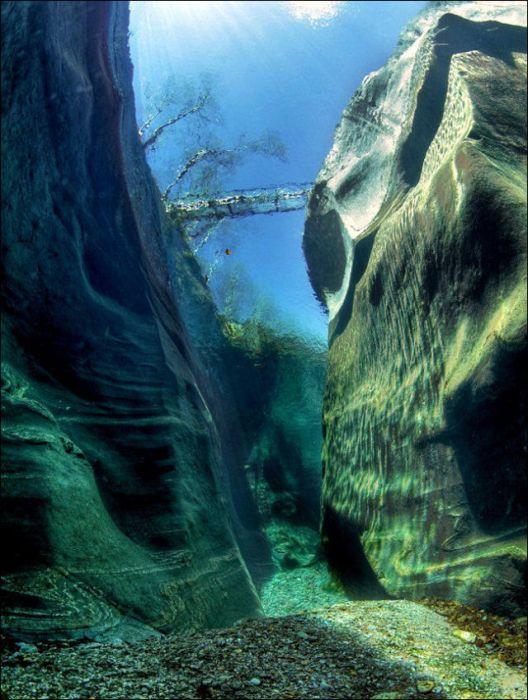 Кристально чистая вода реки Верзаска (12 фото)