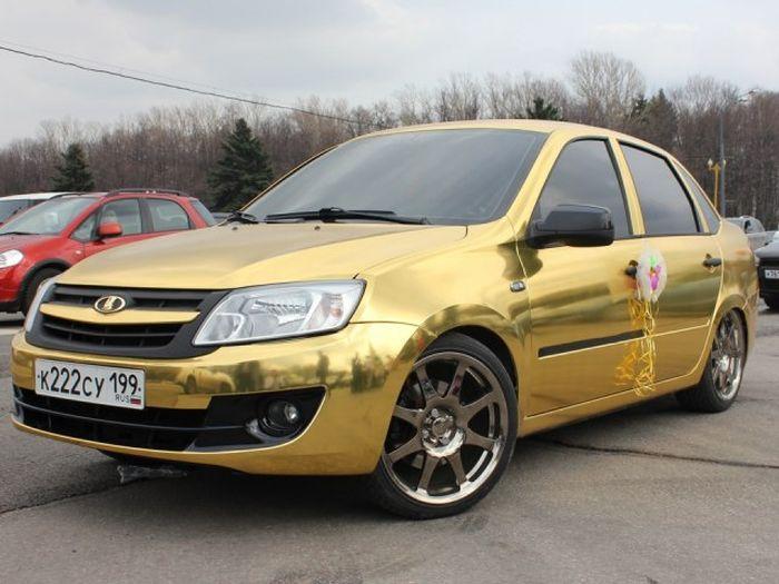 Золотая Лада Гранта (7 фото)