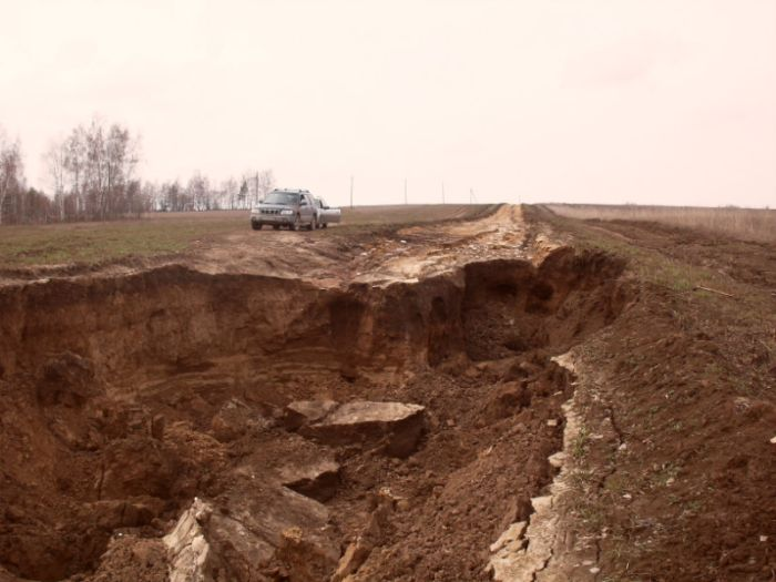 Дорога в Московской области (4 фото)