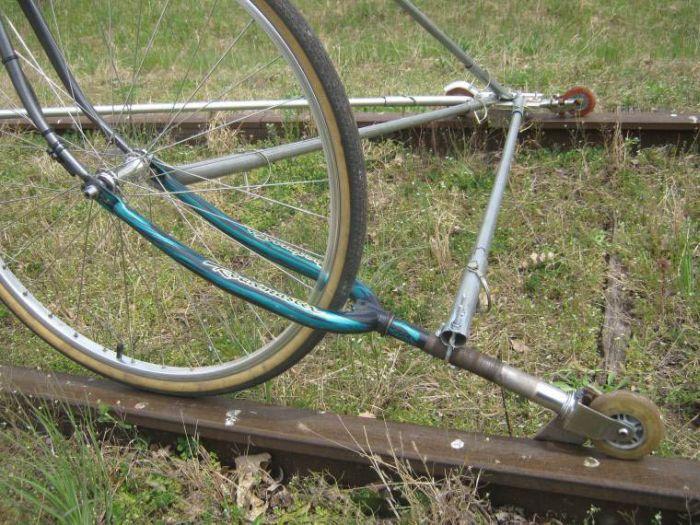 Железнодорожный велосипед (5 фото)