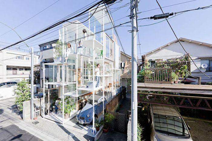 Прозрачный дом (13 фото)