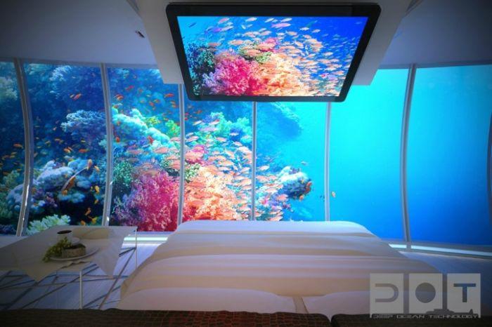 Подводный отель в Дубае (12 фото)