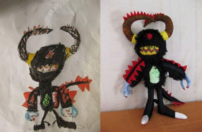 Рисунки детей, воплощенные в жизнь. Часть 2 (23 фото)