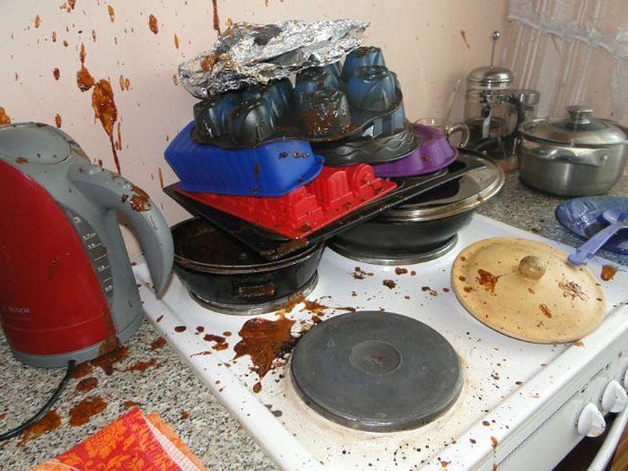 Взрыв сгущенки (9 фото)