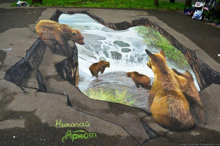 3D-рисунки в Бабушкином парке (58 фото)