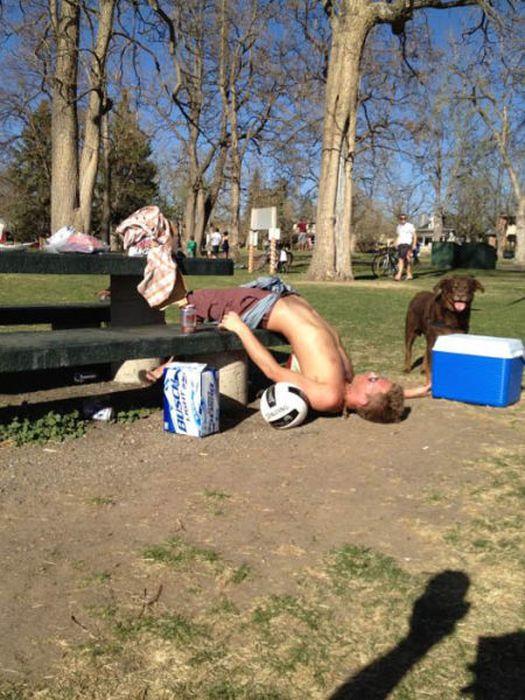 Пьяные отжиги (34 фото)