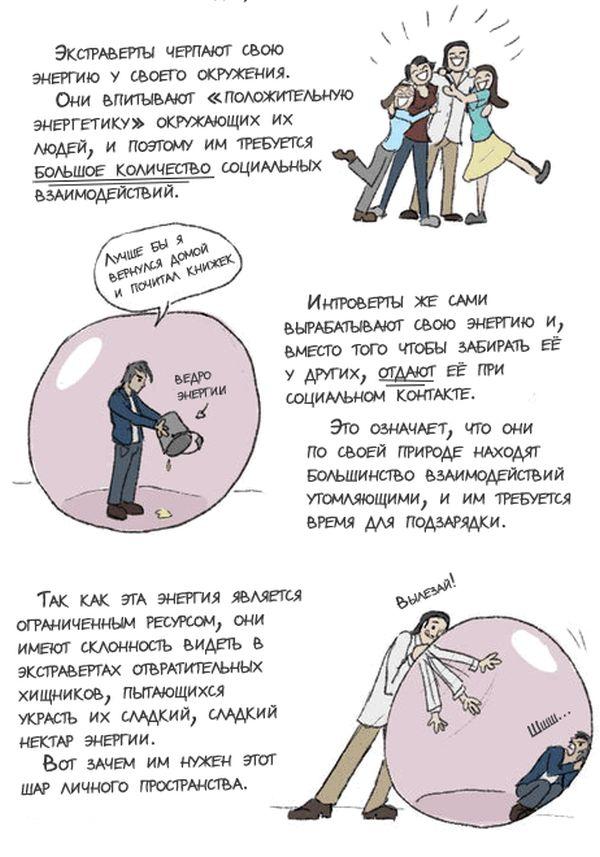 Про интровертов (4 картинки)