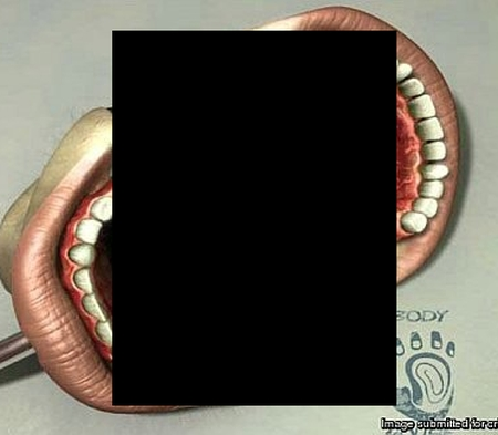 Не рот, а жесть... (2 фото)
