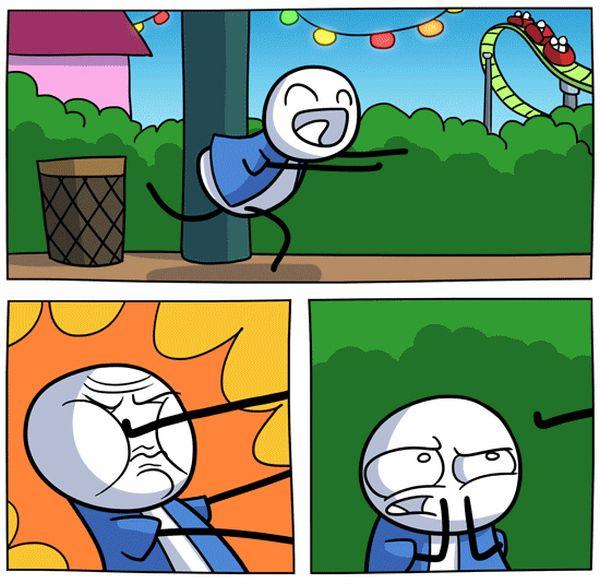 Комикс: Парк развлечений (8 картинок)