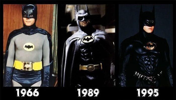 Как изменился стиль костюмов супергероев (8 картинок)