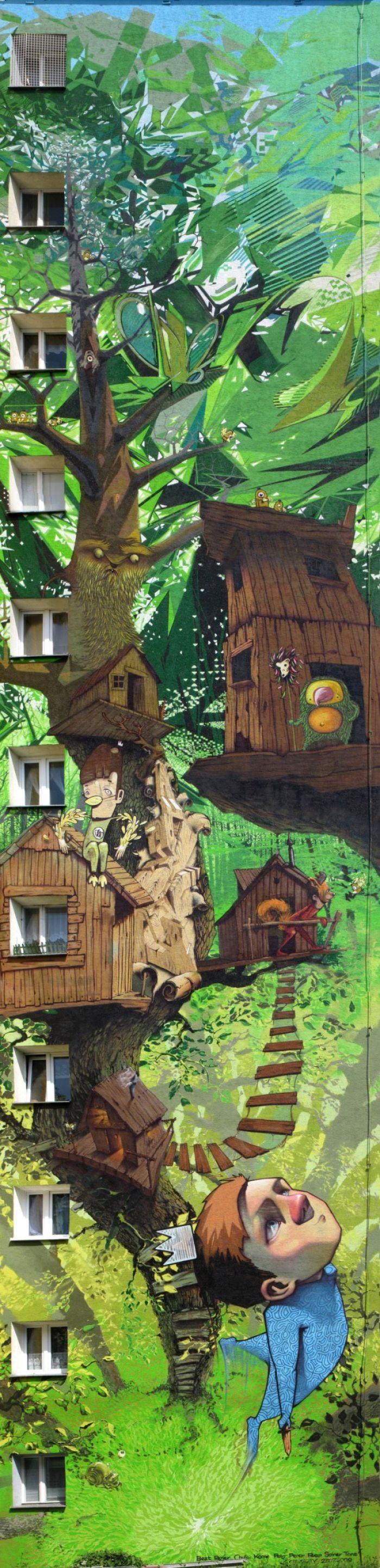 Креативная роспись домов (16 фото)