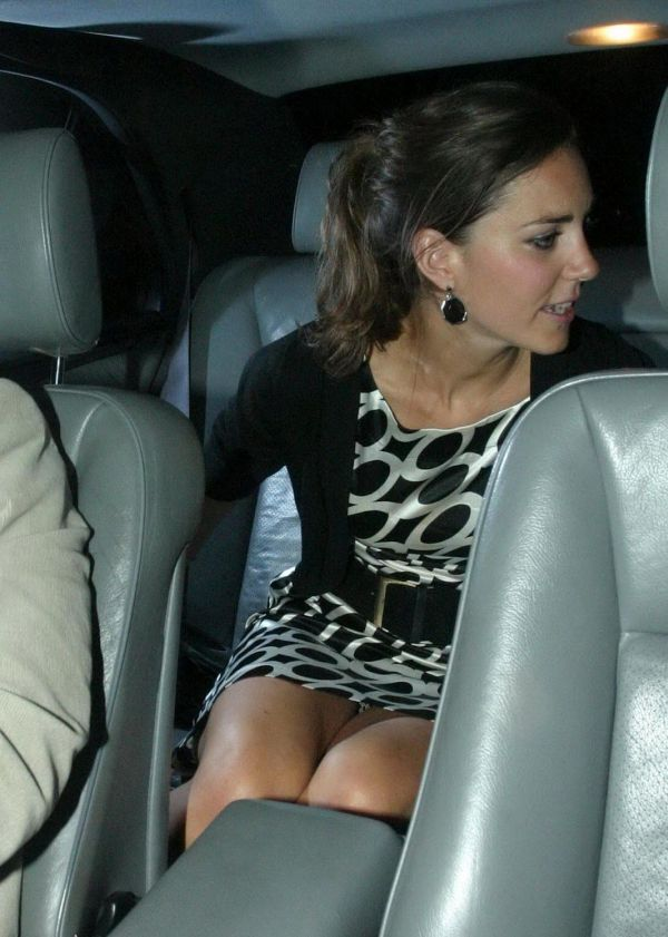 Засвет Кейт Миддлтон в короткой юбке (9 фото)