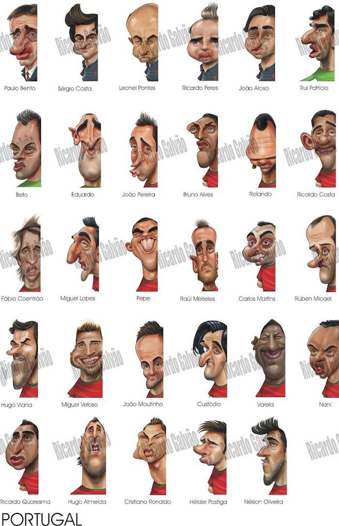 Классные карикатуры игроков Евро 2012 (10 картинок)