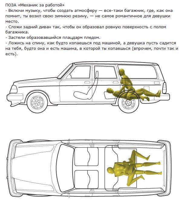 5 экстремальных поз для автомобиля (18+) (5 картинок + текст)