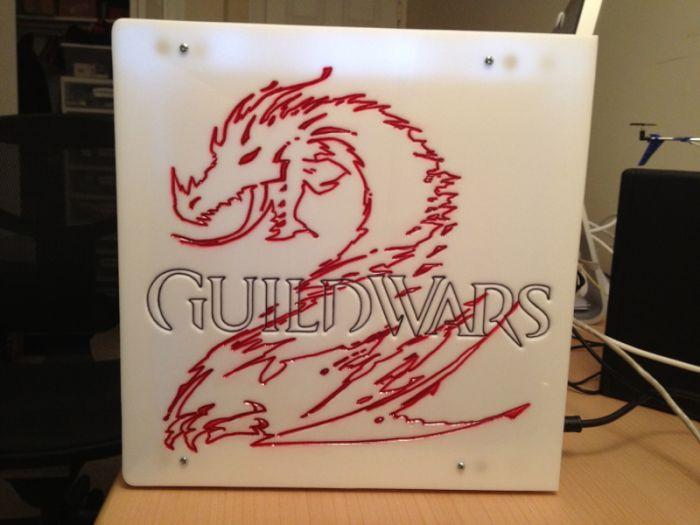 Моддинг компьютера в стиле Guild Wars 2 (30 фото)