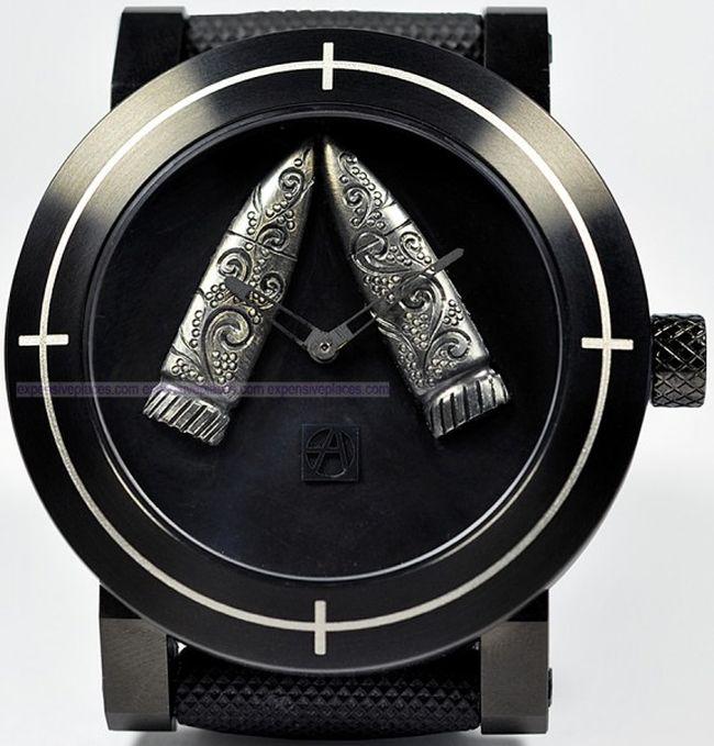 Необычные часы для любителей оружия (7 фото)