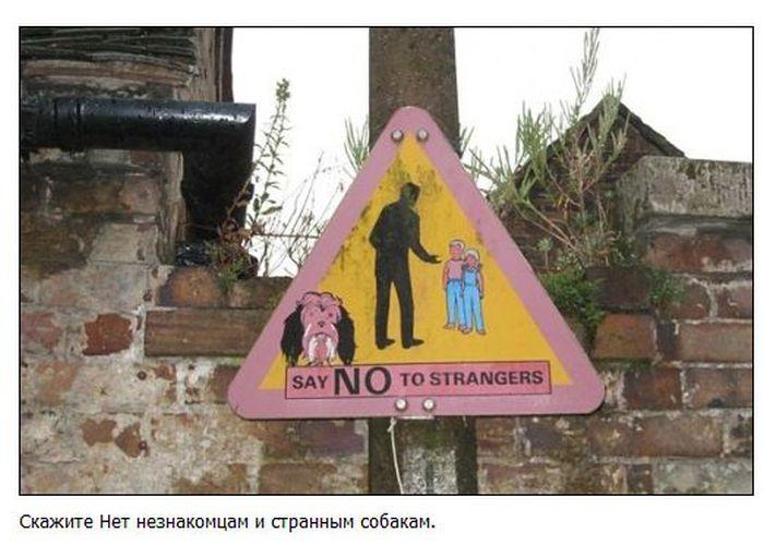 Забавные и странные дорожные знаки (38 фото)