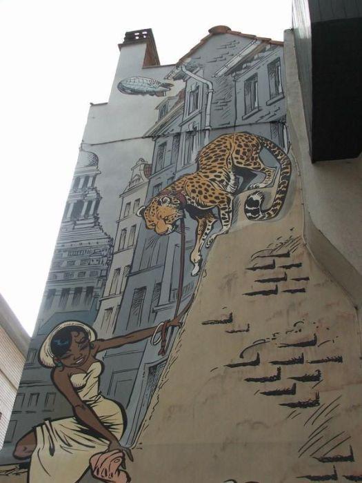 Комиксы на улицах Бельгии (40 фото)