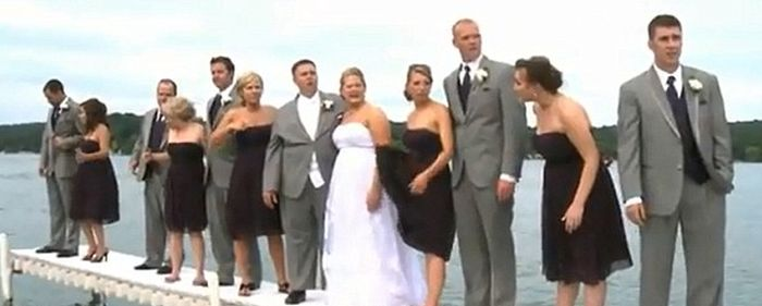 Эта свадьба запомнится молодоженам надолго (6 фото + видео)