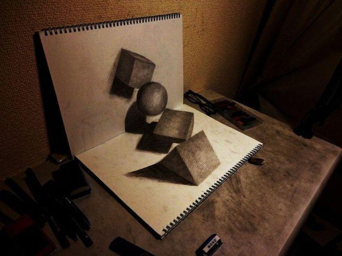 Удивительные трехмерные рисунки (15 фото)