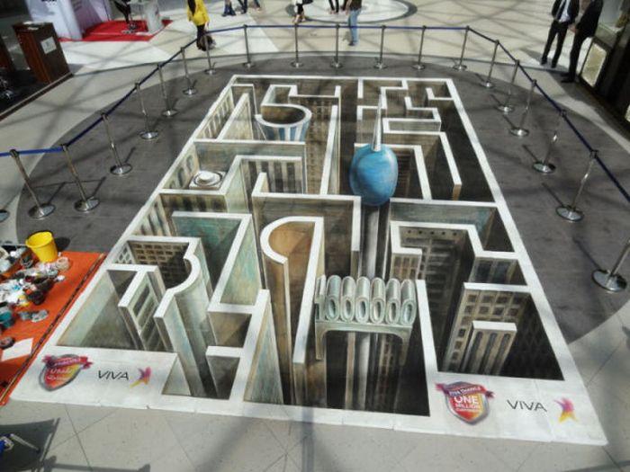 3D-рисунки на асфальте (42 фото)