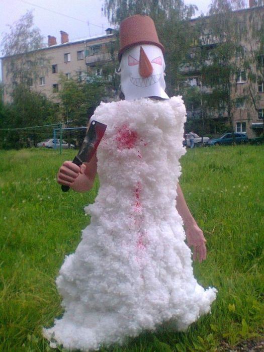 Странные снеговики из соц сетей (45 фото)