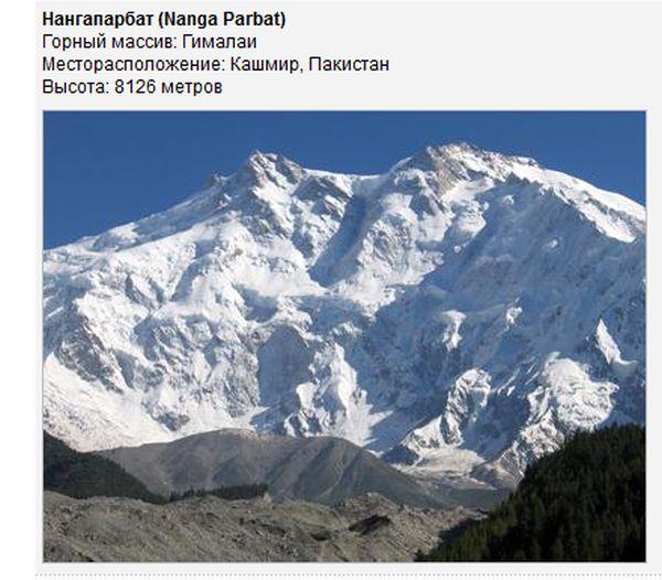 Самые опасные горы мира (19 фото)