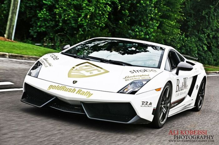 GoldRush Rally 4 - знаменитый пробег на эксклюзивных суперкарах (50 фото)