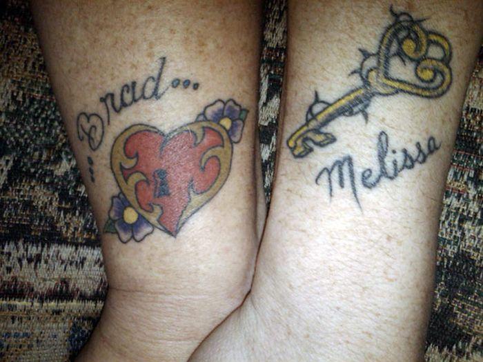 Татуировки из двух частей (30 фото)