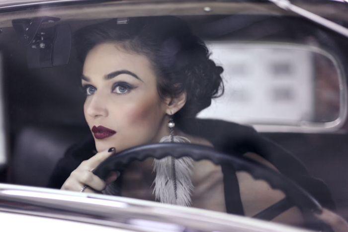 Женщины на машинах ретро фото — 11