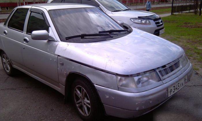 Суровый ремонт автомобиля (5 фото)