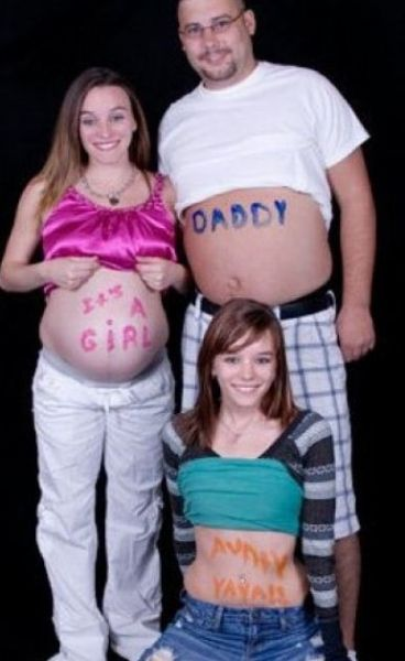 Странные снимки беременных девушек (50 фото)