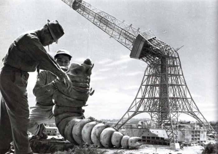 1954 yılında godzilla çekimleri(11 Fotograf)