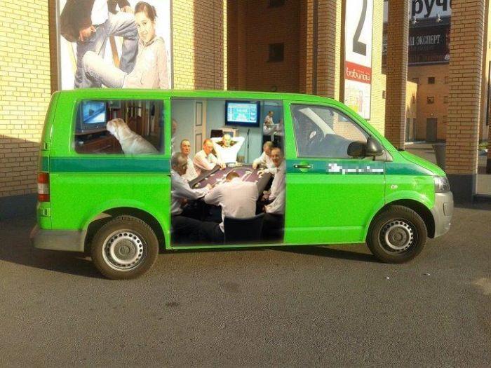 Креативные инкассаторские автомобили (6 фото)