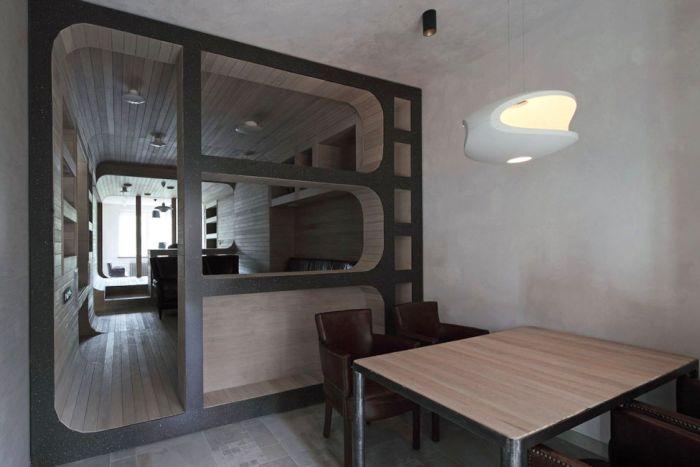 Креативный дизайн квартиры из дерева (14 фото)