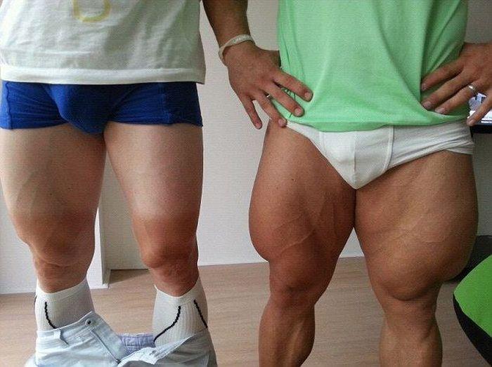 Как эти ребята накачали ноги? (6 фото)
