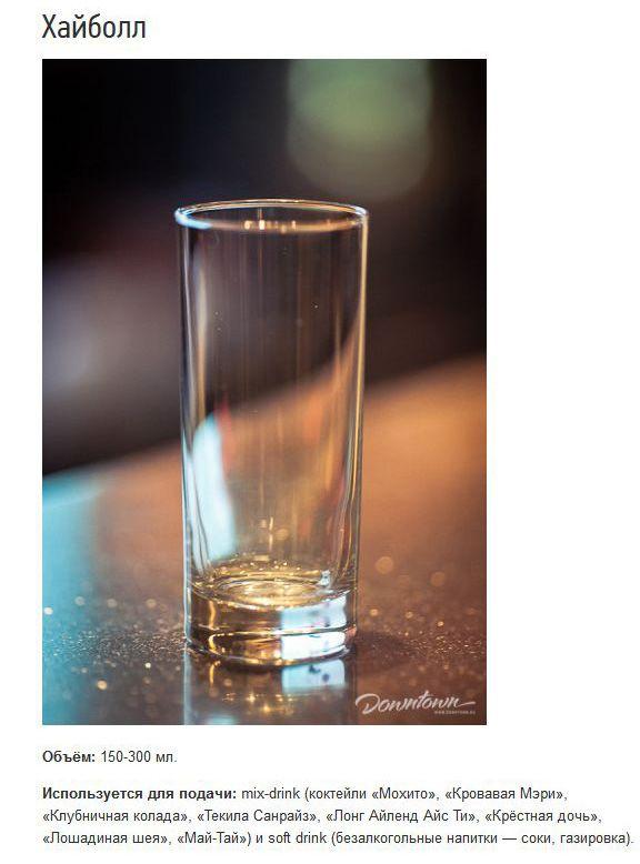 Описание различных видов бокалов (15 фото + текст)