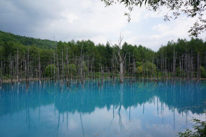 """Удивительный """"Синий пруд"""" в Японии (37 фото)"""
