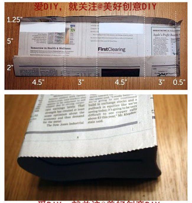 Как из газеты сделать подарочный пакет (5 фото)
