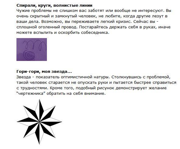 Что значат рисунки, которые мы неосознанно рисуем (6 картинок + текст)