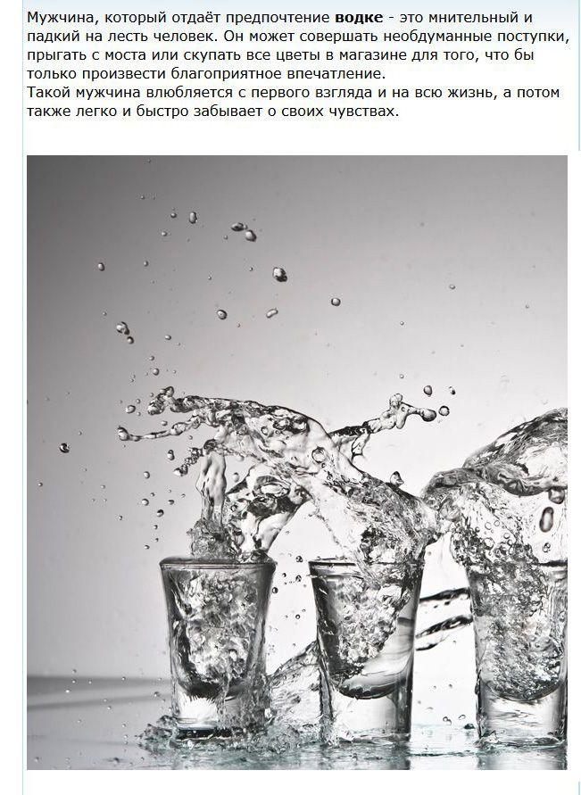 Определяем характер мужчины по спиртным напиткам (5 фото + текст)
