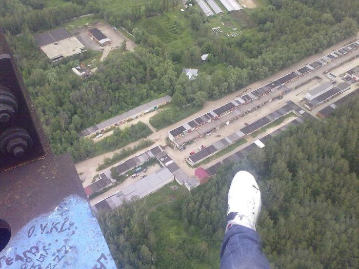 Прогулки на огромной высоте (9 фото + видео)