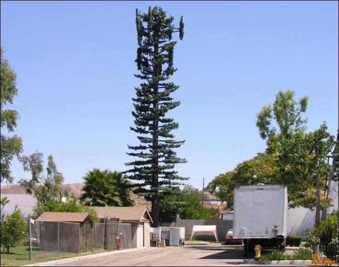 Как за границей маскируют вышки сотовой связи (22 фото)