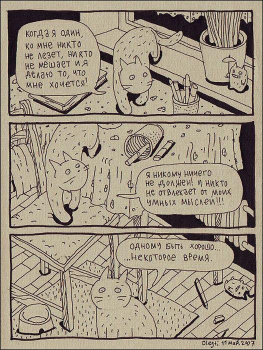 Человек и кот,Смешные комиксы,веб-комиксы с юмором и их переводы