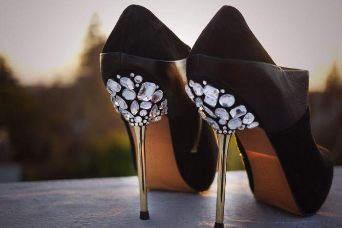 Делаем туфли со стразами своими руками (7 фото)