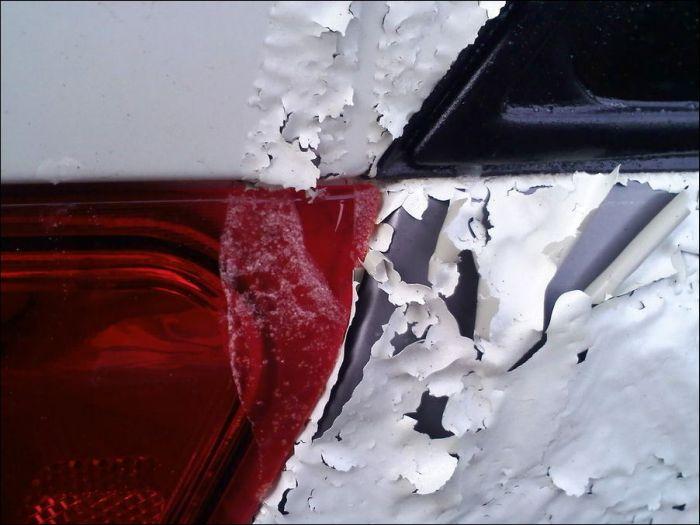 Автоместь с помощью тормозной жидкости (7 фото)