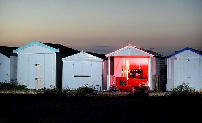 Высокотехнологичный пляжный домик (5 фото)