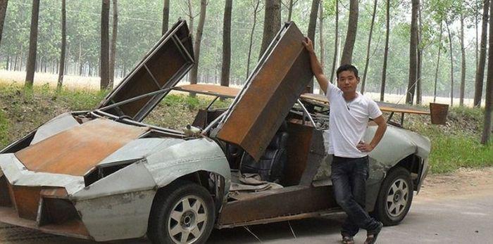 Китайский парень сделал Lamborghini Reventon своими руками (5 фото)