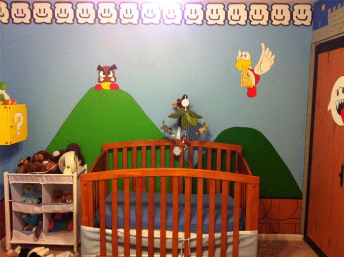 Детская спальня в стиле Супер Марио (4 фото)