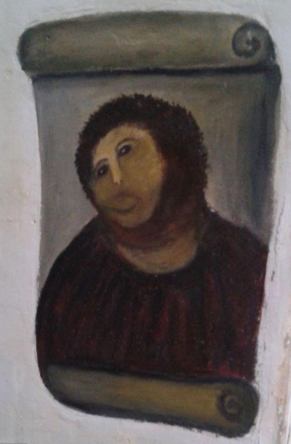 """80-летняя бабулька """"отреставрировала"""" уникальную икону XIX века (3 фото + видео)"""